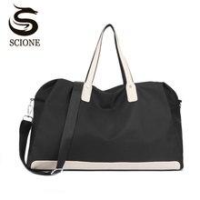 Купить с кэшбэком Scione Waterproof Luggage Suitcase Women Large Travel Bags Leisure Cabin Duffel Crossbody Bag Weekend Sport Shoulder Handbags