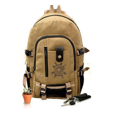 Anime Naruto Cosplay Cartoon student campus men and women backpack casual large capacity backpack child birthday gift anime haikyuu cosplay hinata syouyou cos student canvas men and women backpack