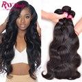 4 Bundles Brasileño Onda Del Cuerpo Vírgenes Paquetes de Pelo Humano 8A Brasileños Virgin Hair Body Wave Brasileños Paquetes Armadura Del Pelo de Visón