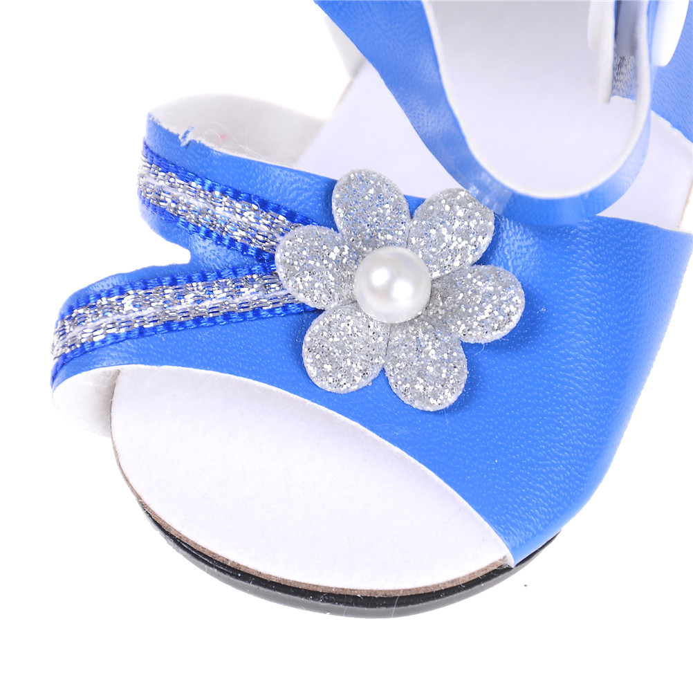 e46370d16887 Cute Blue Sandals Summer Doll Shoes Fit 43cm Baby Born Doll and 18 inch  American Doll Doll Accessories BJD Doll-in Dolls Accessories from Toys    Hobbies on ...