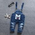 Hot! frete grátis Primavera outono de algodão denim calças macacão menino babys eans, macacão, crianças