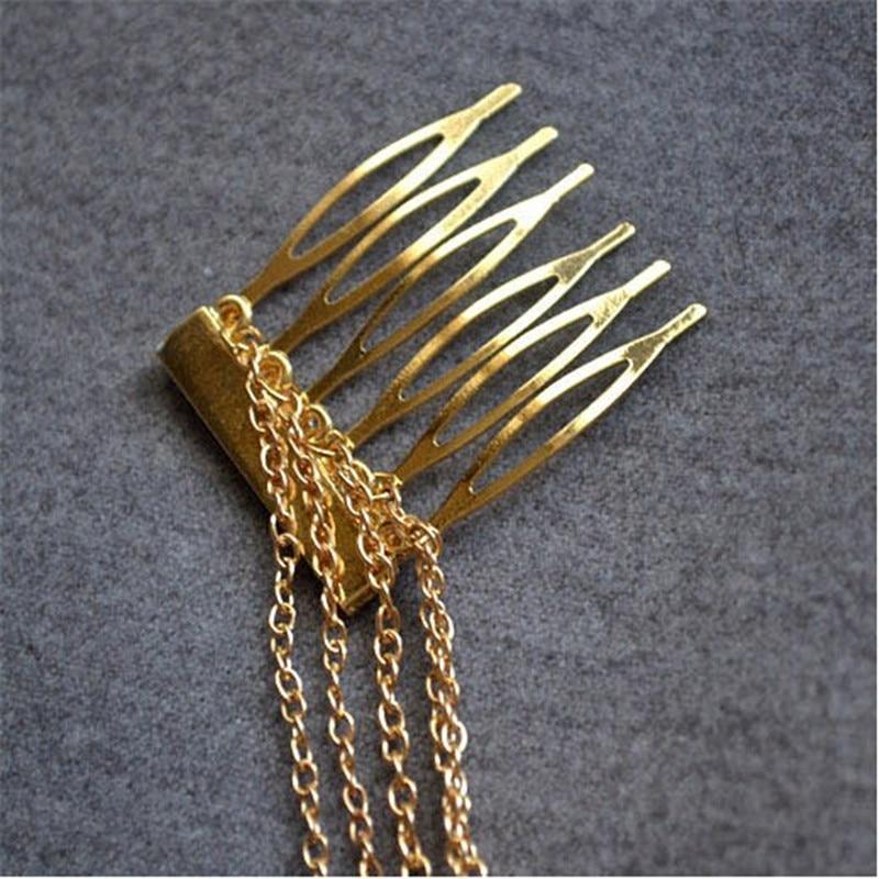 LNRRABC Moterų plaukų šukos Metalo puokštė grandinės Moterų - Mados papuošalai - Nuotrauka 4