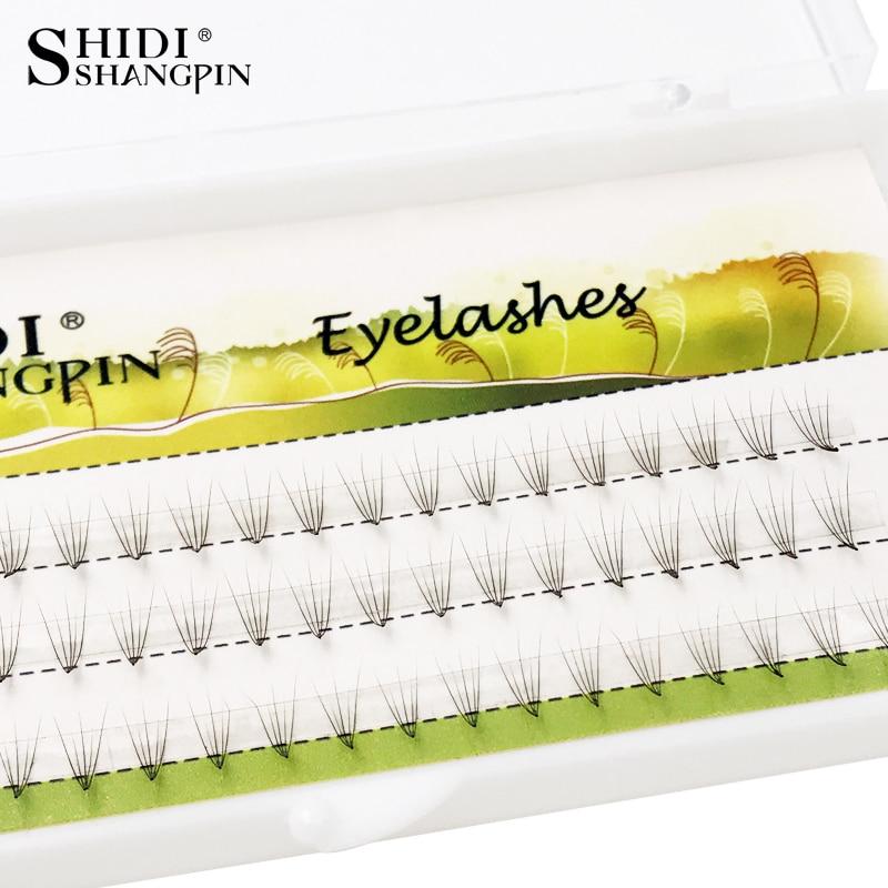60pcs Natural Long Grafting Eyelashes False Eyelash Knot Free Eyelash Extension Individual Lashes Soft Makeup Fake Eye Lashes
