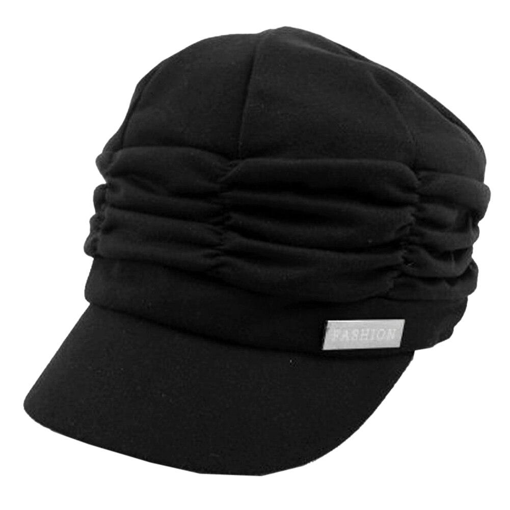 109f89a8074 TKOH Women Girl Fashion Design Drape Layers Beanie Rib Hat Brim ...
