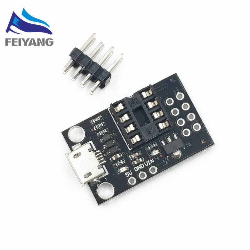 Pluggable Development Board For ATtiny13A/ATtiny25/ATtiny45/ATtiny85  Programming Editor Micro Usb Power Connector