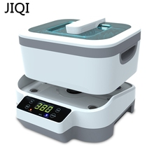 JIQI 1.2L Two powers Ultrasonic Digital cleaner Baskets Jewelry Watches Dental Heating Mute Ultrasonic Fruits Cleaner bath