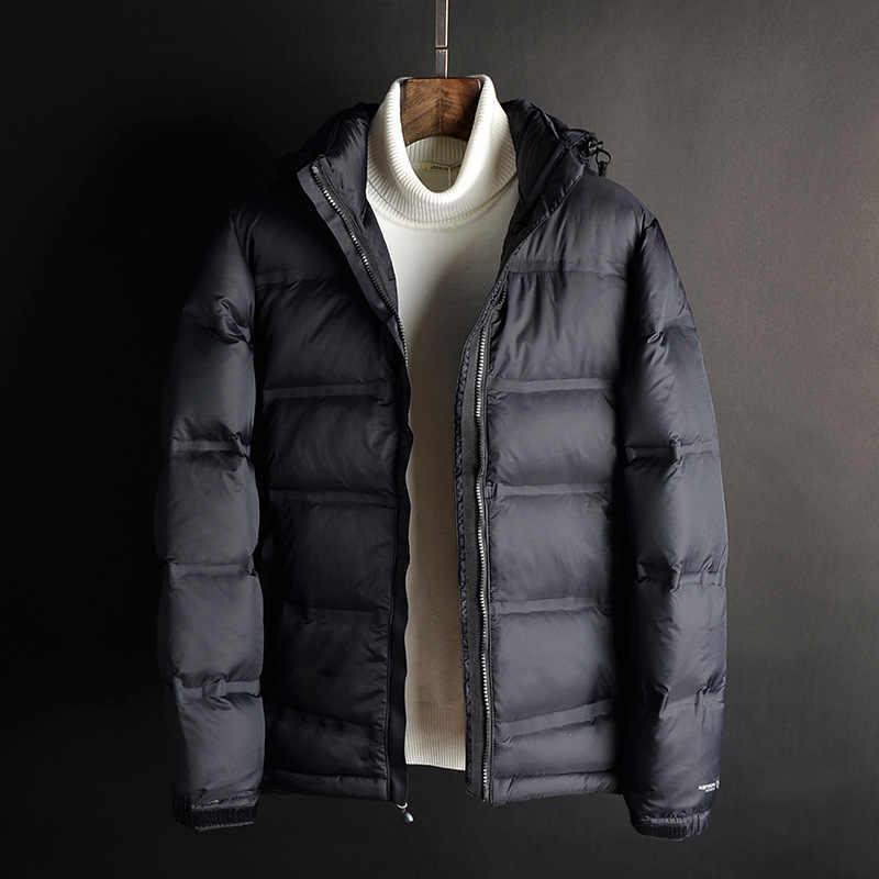 Зимняя мужская куртка 2018 брендовая одежда парка Мужская толстая пуховая куртка мужская куртка зимняя куртка гусиное перо зимняя парка