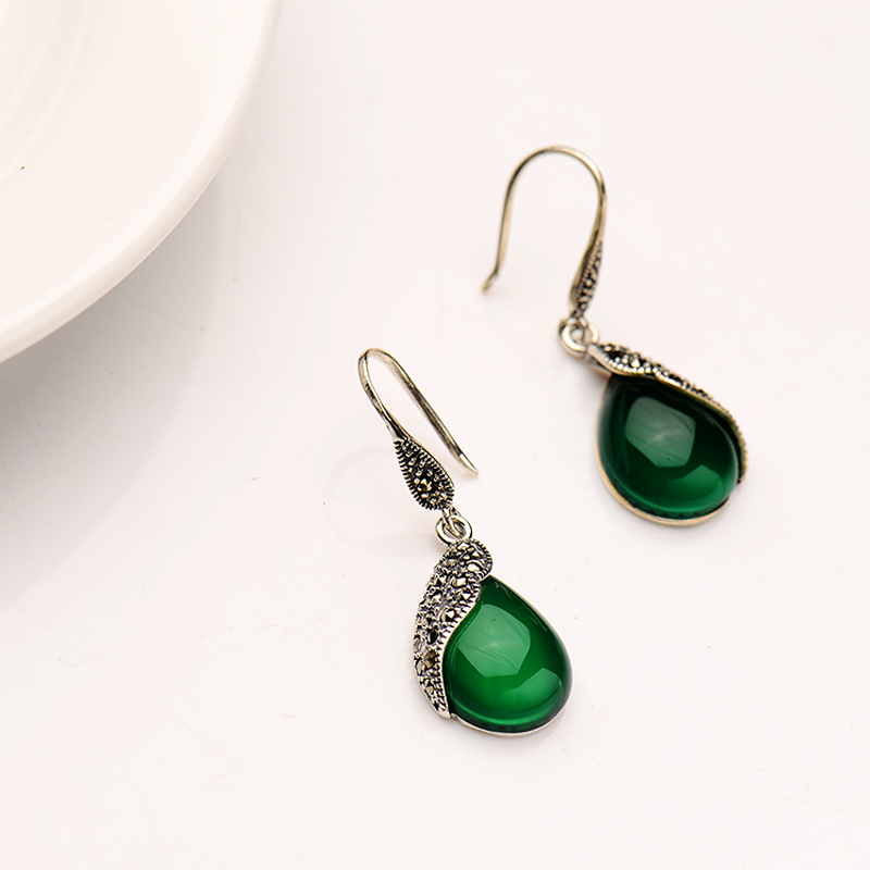 Vintage Silver Earrings 925 silver female models all match classic ...