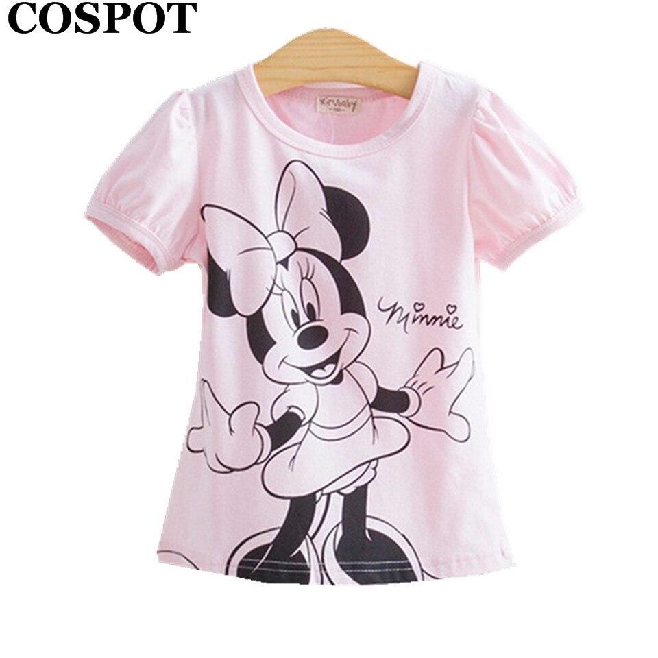 COSPOT Bébé Filles D'été Bonjour Kitty T-shirt En Coton À Manches Courtes Occasionnel T de chemises pour Enfants Enfants T-Shirts 2017 nouveau 10E