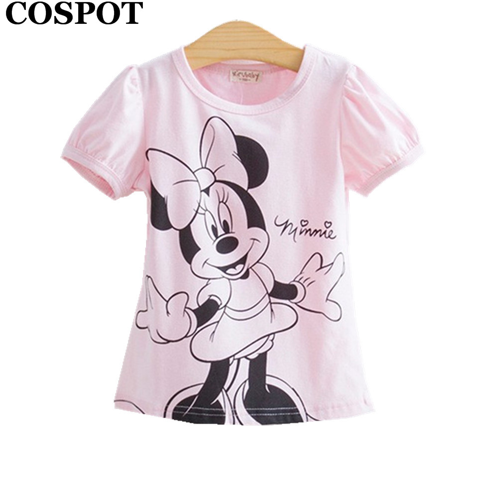 COSPOT Baby Girls Summer Hello Kitty Tshirt Cotton Short-Sleeved Casual T shirts for Kids Children's T-Shirts 2017 New 20E