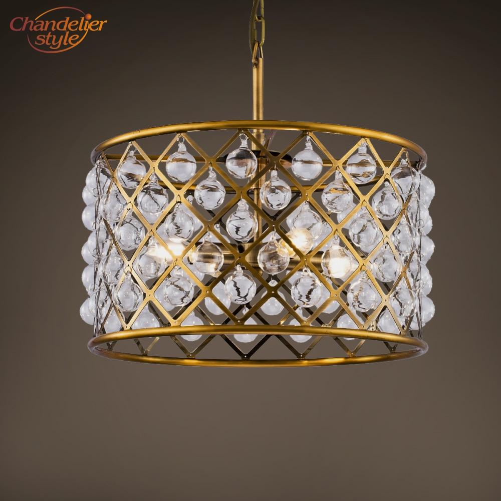 Винтажная хрустальная люстра, осветительная арматура, Современный Стеклянный барабан, люстры, подвесной светильник для гостиной, столовой,