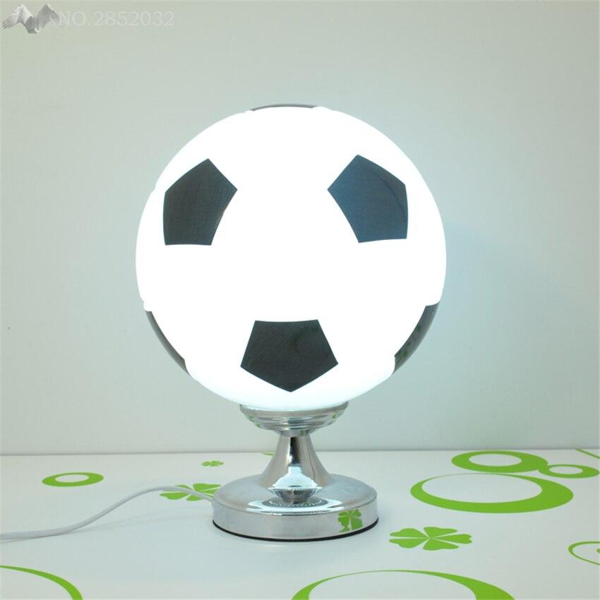 America Modern Gl Ball Table Lamps Soccer Desk Lights For Children Room Bedside Bedroom Decor Writing Reading Fixture In From