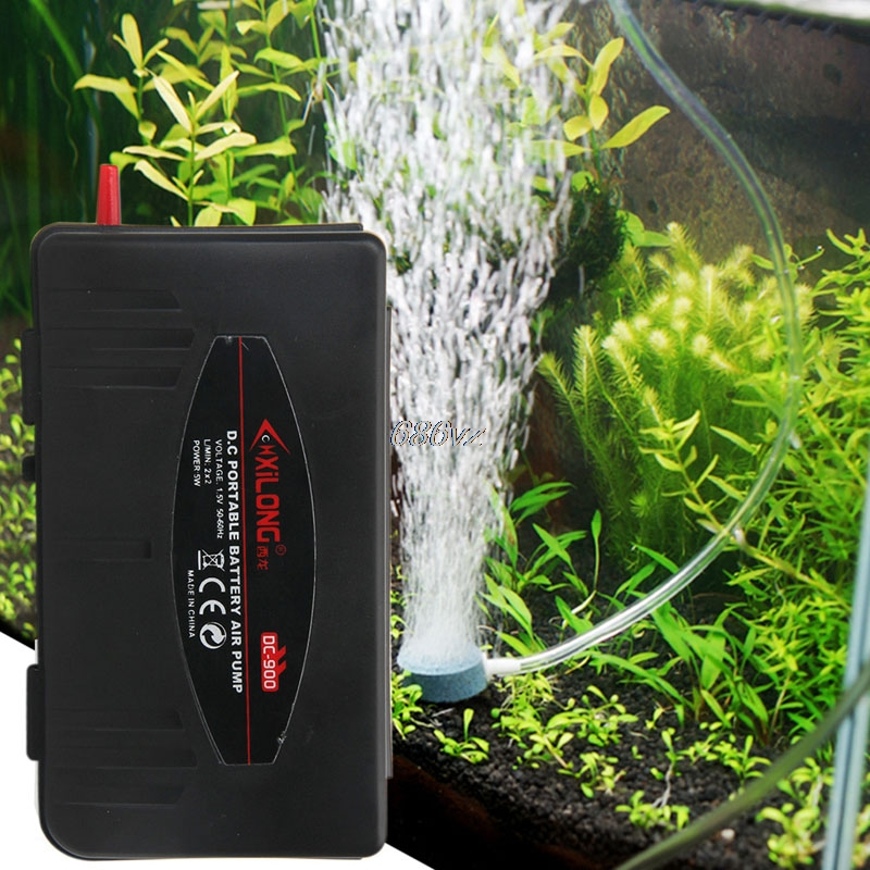 Co2 aquarium Acuarios Portable Battery Operated Aquarium Air Pump Aerator Pump Oxygenator Pump Fish Tank N28 Drop Ship