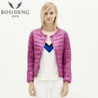 BOSIDENG Womens Clothing Down Coat Winter Coat Regular Jacket Ultra Light Solid O Neck Spring Coat