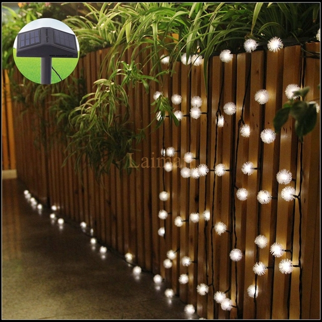 Free Shipping 4.8M 20leds Chuzzle Ball Solar Powered Waterproof Outdoor LED  String Lights Fairy Light