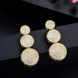Image 5 - CWWZircons 3Pcs High Quality Cubic Zircon Dubai Gold Necklace Jewelry Set for Women Wedding Evening Party Dress Accessories T349