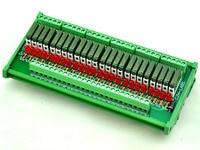 Slim DIN Rail Mount DC12V Source PNP 32 SPST NO 5A Power Relay Module PA1a 12V
