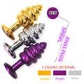 3 cor De Metal Em Espiral vibrador anal Butt Plug Anal brinquedos eróticos Produtos do sexo para casais de Pedras Preciosas anal penis Adult Sex Toys Para mulheres