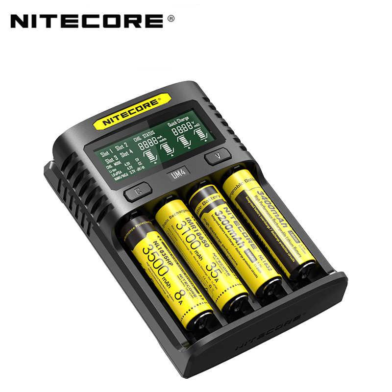 100% оригинал Nitecore UM4 UM2 USB QC зарядное устройство интеллектуальная схема глобальная страховка Li-Ion AA AAA 18650 21700 26650