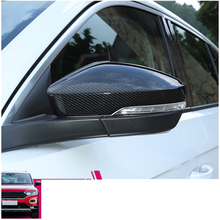 Lsrtw2017 Carbon Fiber Abs Car Rearview Mirror Cover for Volkswagen T-roc 2017 2018 2019 2020