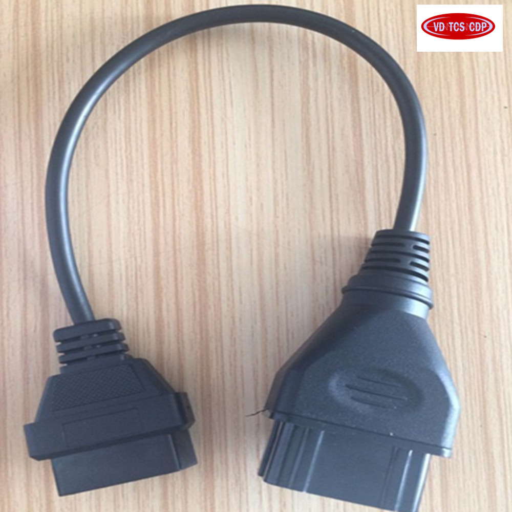 GAZ 12 Broches 12Pin Mâle à OBD OBD2 OBDII DLC 16 Broches 16Pin Femelle Voiture Outil de Diagnostic Câble Adaptateur Convertisseur