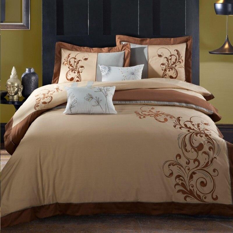 100%Cotton Embroidery Bedding Set Duvet Cover Bed sheet Pillowcase Bed Linen Bedclothes Queen size 4pcs100%Cotton Embroidery Bedding Set Duvet Cover Bed sheet Pillowcase Bed Linen Bedclothes Queen size 4pcs