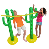 Giant Cactus Inflatable Limbo Kit Kids Children Outdoor Lawn Plaything Pools Game Water Summer Holiday Beach Toys Party Supplies