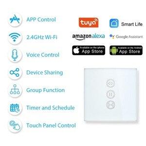 Image 2 - Tuya Smart WiFi Curtain Blinds Switch for Roller Shutter Electric Tubular Motor Google Home Alexa Echo Smart Home App Timer