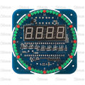 Ds1302 rotativa kit relógio eletrônico digital led diy 51 scm placa de aprendizagem 5 v