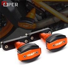 Alta qualidade Da Motocicleta CNC Sliders Quadro Acidente Anti Protector Caindo proteção Para KTM Duke 125 200 390 Duke