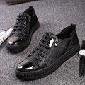 Новый 2016 мужчины кожаные ботинки chaussure homme heren schoenen sapato masculino мужской обуви