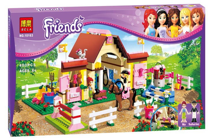 2015 New original Bela 10163 Girl's Friends Maya Heartlake Stables Building Blocks Sets 400 pcs Bricks Compatible with Lego toys