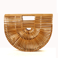 Hot Sale Fashion Hollow Out Bamboo Handbag Summer Beach Bag For Women Famous Design Luxury Summer