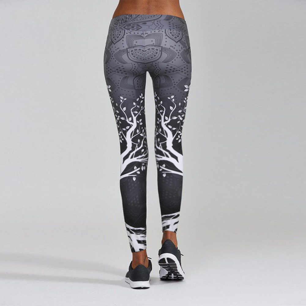 3 สีผู้หญิงพิมพ์กีฬาโยคะออกกำลังกาย Plus ขนาดออกกำลังกายกางเกงกีฬาเซ็กซี่ Push Up Gym leggings
