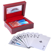 Gift wooden box with Russia Style plastic Playing Cards Waterproof Durable PVC poker cards creative Gift game cards