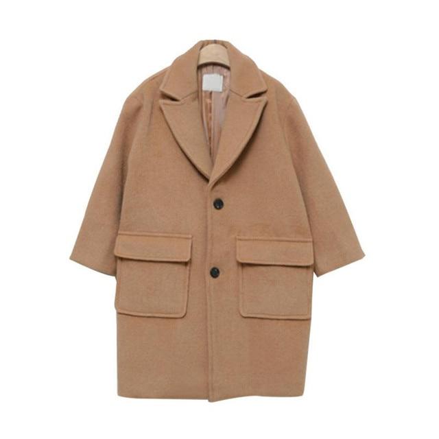 6e5b05a57cab DFXD Korean Teen Girls Long Sleeve Wool Coat 2018 High Quality ...
