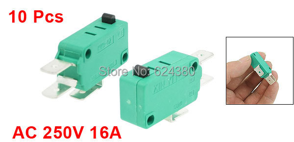 16 A @ 250 V ac SPST-NC Push Button Switch