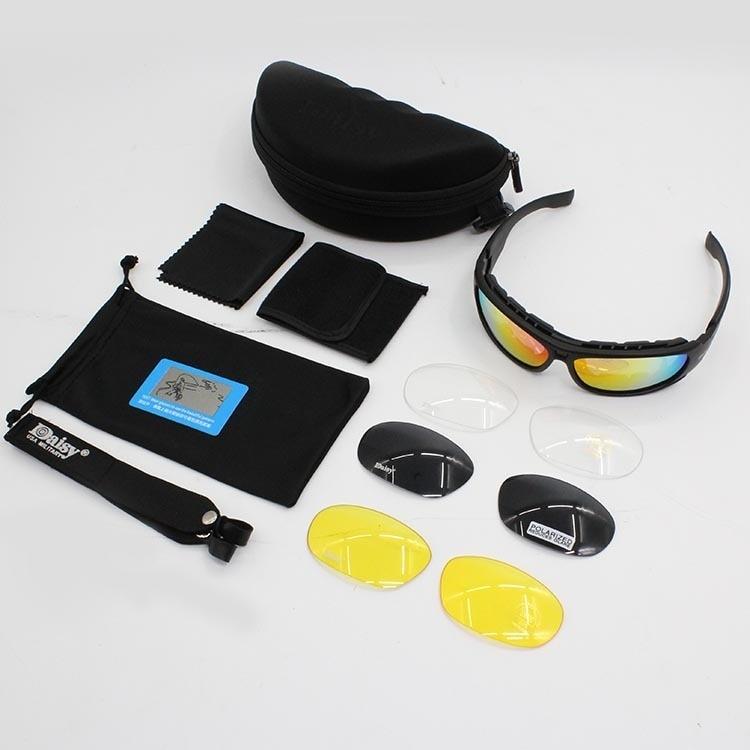 Image 5 - Очки с поляризационными стеклами Daisy C6, армейские тактические  очки для охоты на мотоцикле, страйкбольные пуленепроницаемые военные  очки с 4 линзами в комплектеmotorcycle glasses gogglesmotorcycle  gogglesmotorcycle glasses -