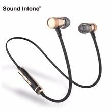 Звук Inone H6s Спорт Беспроводные Наушники стерео музыку Bluetooth Наушники с Микрофоном В Ухе гарнитура для iPhone Sony Samsung Xiaomi