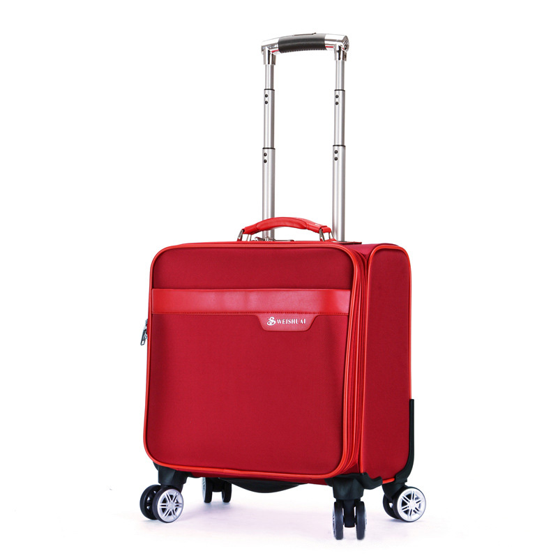 ФОТО Multifunctional Women Men Business Rolling Luggage 16 Inch Boarding Box Computer Trolley Travel Bags Women Travel Suitcase
