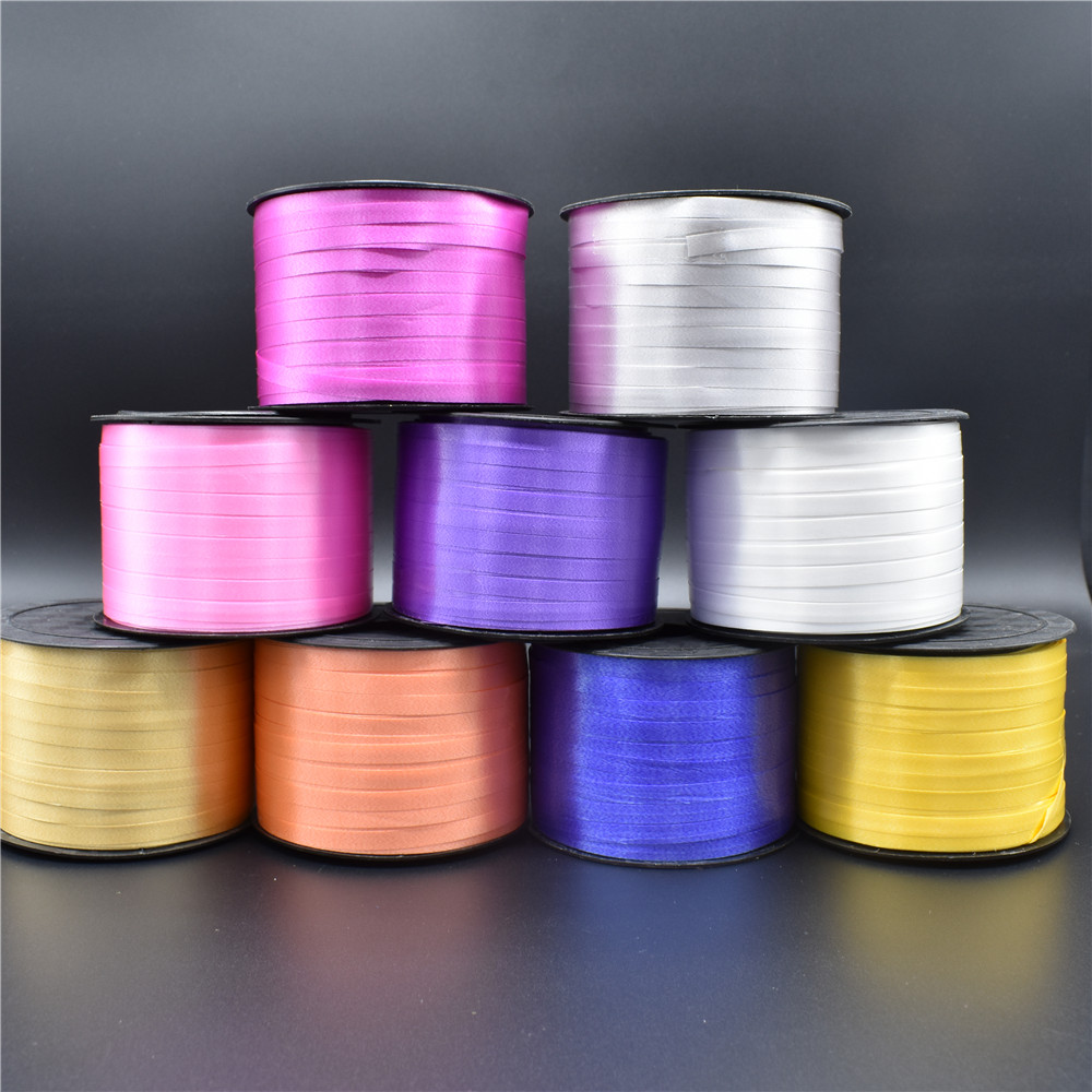 New 1 Pcs/Lot Foil Balloon Ribbon 5MM X 100 Yerds Party Wedding Gifts Wholesale for Party Decoration DIY Accessories Supplies