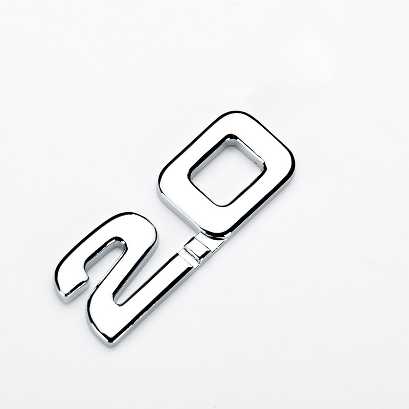 HOT 1pc Car sticker 3D ABS 2.0 3.0 emblem car-styling sticker badge Decals for renault toyota bmw ford focus 2 car sticker funny