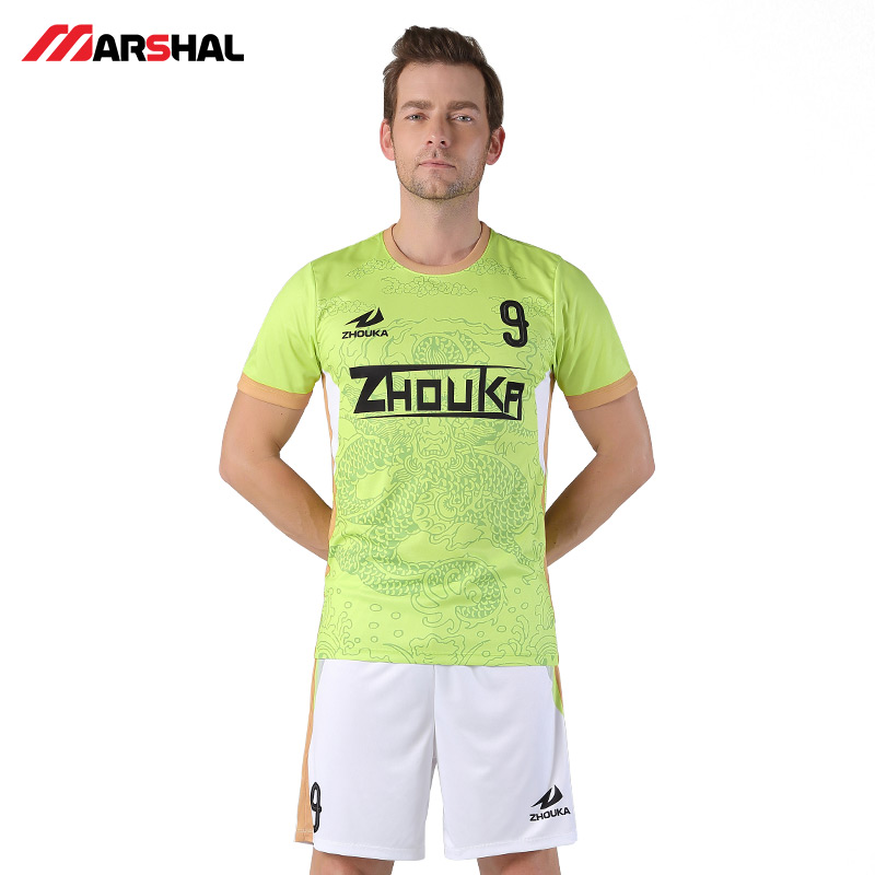 e9d0b30d66e Zhouka Green 2018-2019 Football Jersey Survetement Football Uniform Shirts  Tops Breathable Customized Your Name Soccer Jerseys. 6_01 1 2 ...