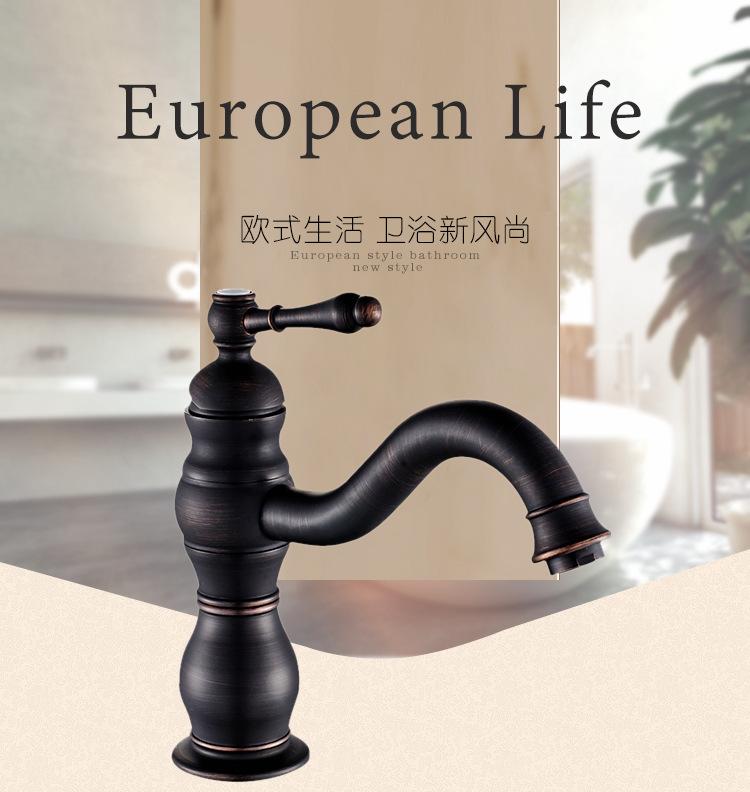 fabricantes al por mayor el envo libre nuevo estilo de estilo europeo negro cobre antiguo grifo de lavabo