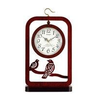 1 шт. китайский стиль сидения часы гостиная Таблица немой настольные часы ретро двусторонняя сидения часы настольные LU614541