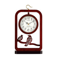 1PCS Chinese style Chinese style seating clock sitting room table mute desk clock retro double sided seating clock desk LU614541