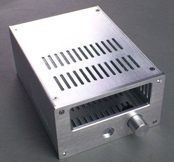 E-016 QUEENWAY silver CNC Full Aluminum Chassis Audio box amplifier/power amplifier case 168mm*100mm*229mm 168*100*229mm queenway 2210 new l panel cnc full aluminum chassis audio box power amplifier case 362mm 220mm 100mm 362 220 100mm