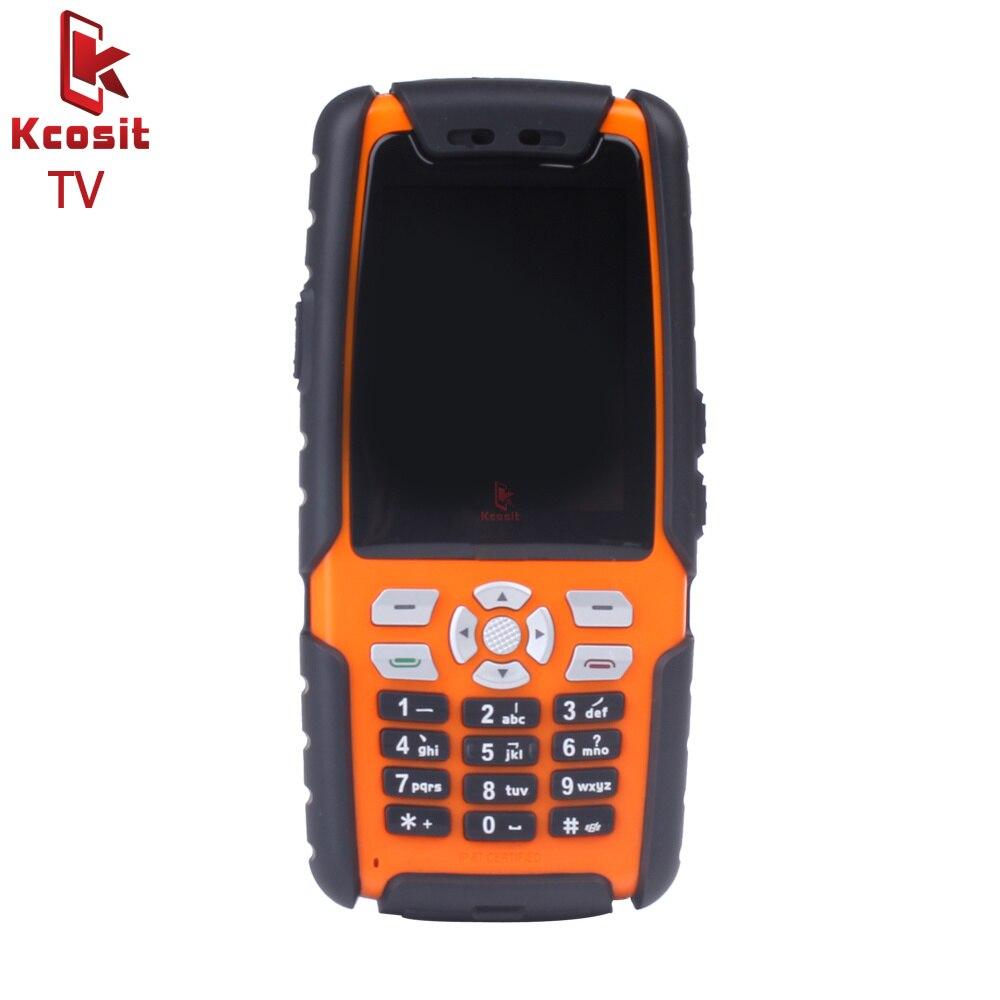 Original L9 Mobile analogique TV téléphone IP67 robuste étanche téléphone antichoc Senior vieil homme téléphone double Sim GSM russe clavier