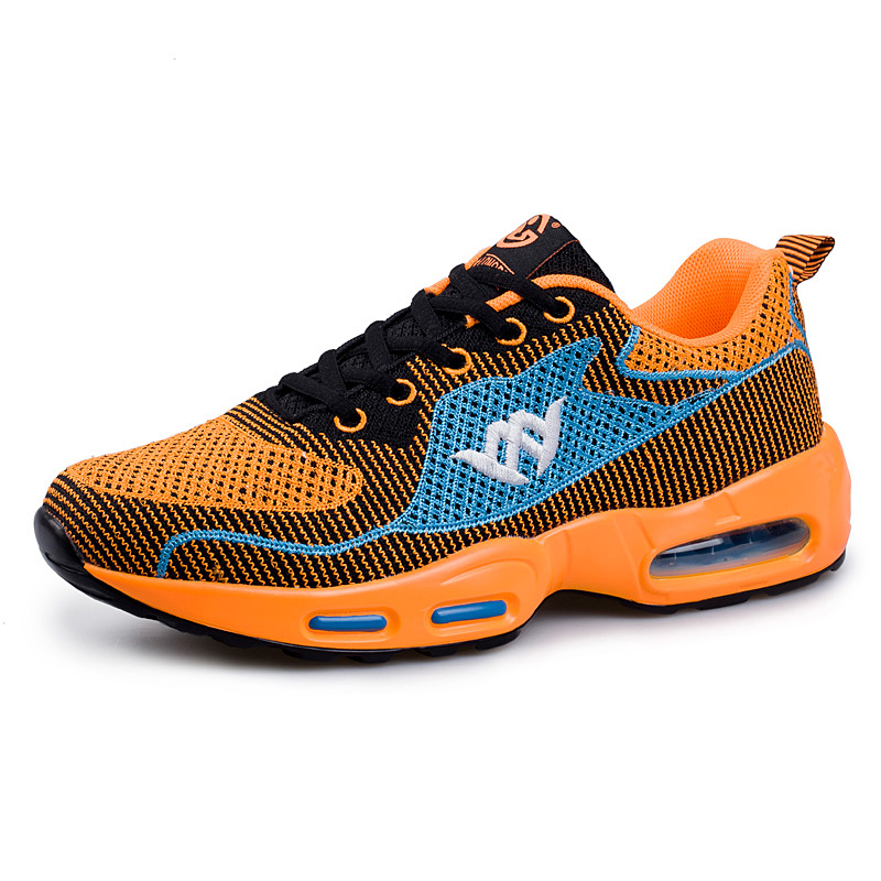 ФОТО 2016 New Air Running Shoes Sport Sneakers Breathable Training Shoes Men Designer Sneakers Orange/Blue Mens Training Shoes
