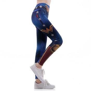 2018 HI-Q Stitch 0293 Wonder Woman Cosplay Prints  Slim Fitness Workout Push Up Sexy Femme Pencil Pants Women Leggings Plus Size 1